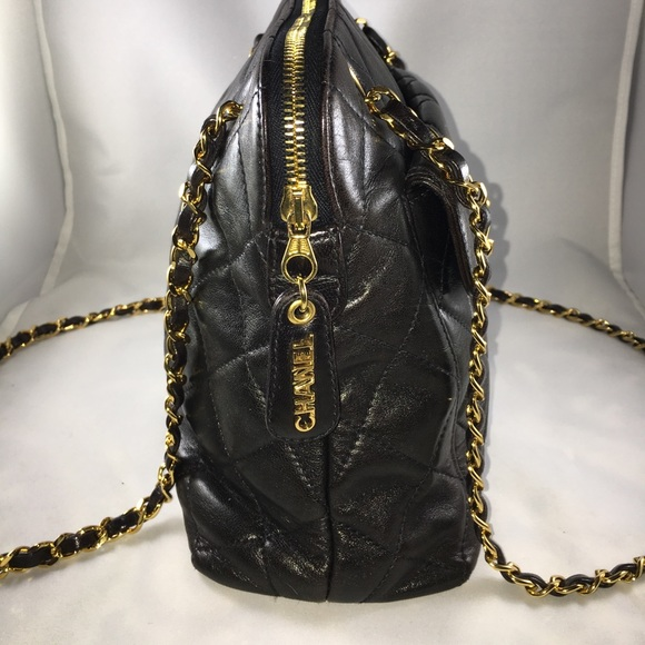 CHANEL - Authentic Chanel Quilted Chain Shoulder Bag from ... : chanel quilted chain bag - Adamdwight.com